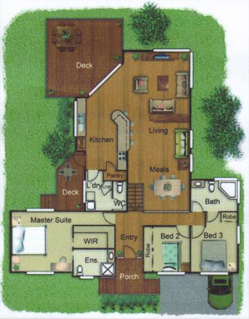 Pole Home 3 bedroom design - Concept 1