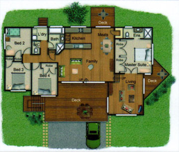 Pole Home 4 bedroom design - Concept 2