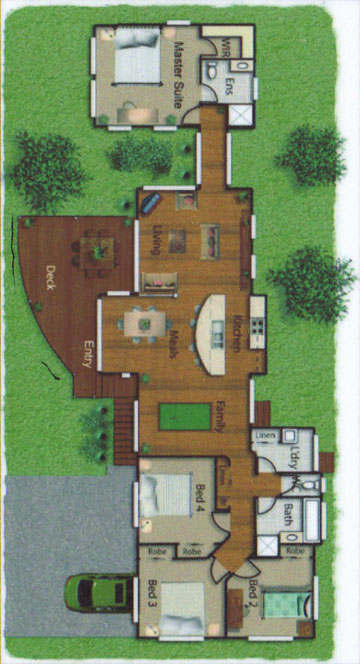 Pole Home 4 bedroom design - Concept 5