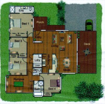 Pole Home 4 bedroom design - Concept 8